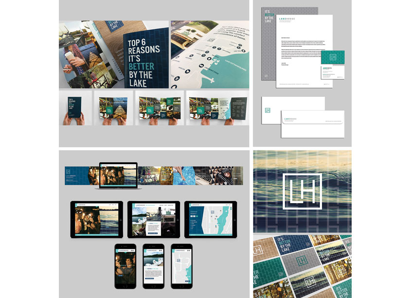 Hickok Cole Creative  Lakehouse Apartment Residences Branding