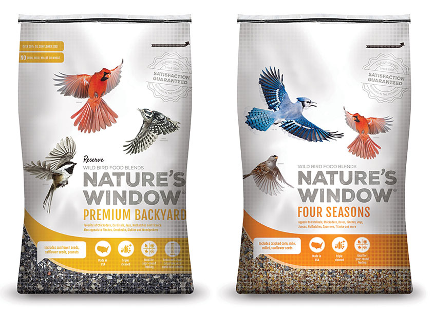 Nature's Window Bird Seed Packaging by Ideas That Kick