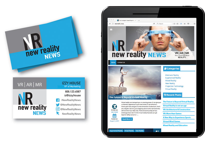iZ House  New Reality News Branding