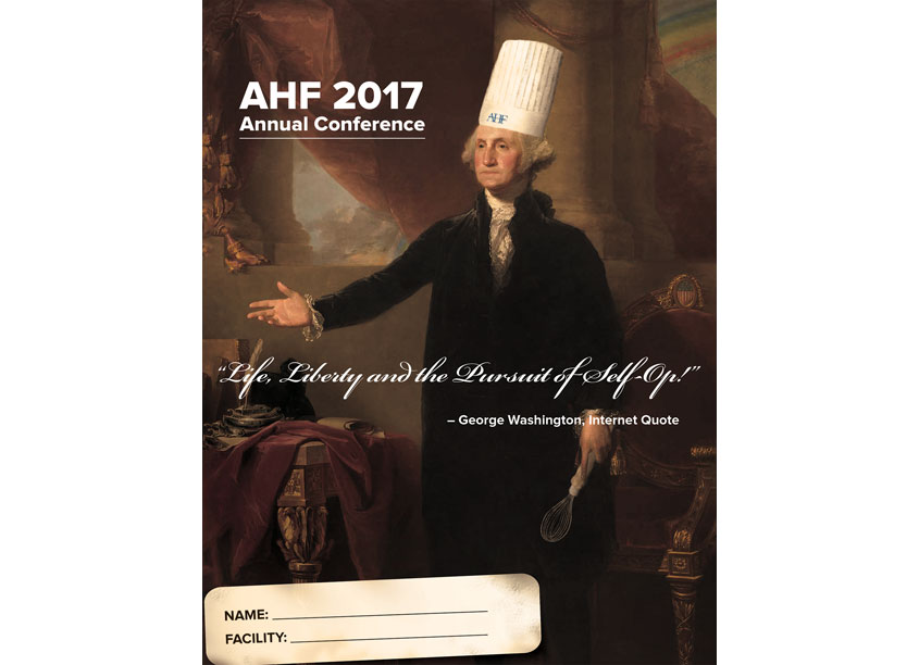 AHF 2017 Annual Conference Board Book Cover by Interel + AMG Creative Design Studio