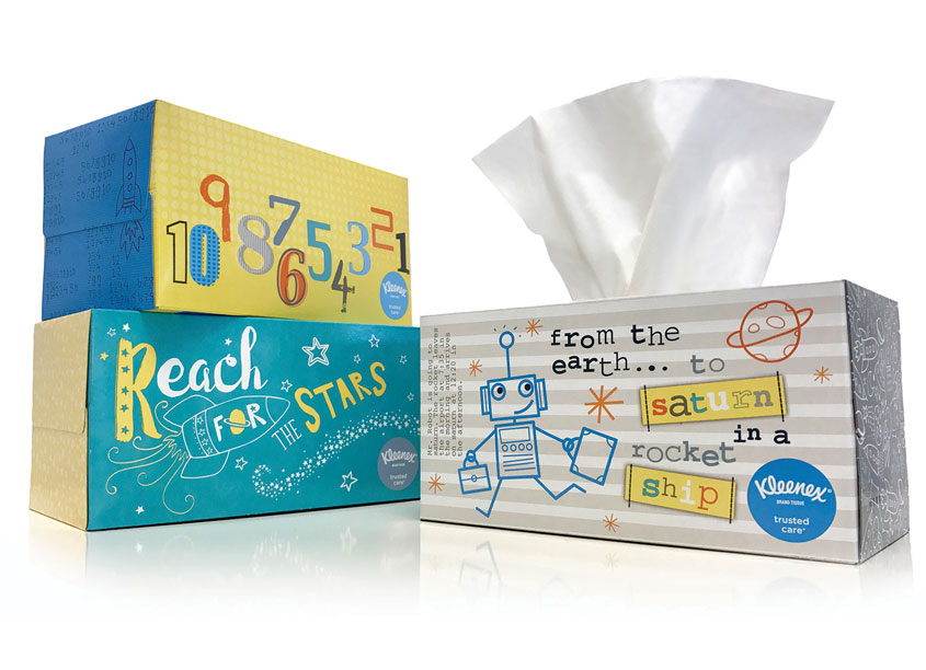 Kay James Design  Kleenex® Back-to-School (Costco Specific)