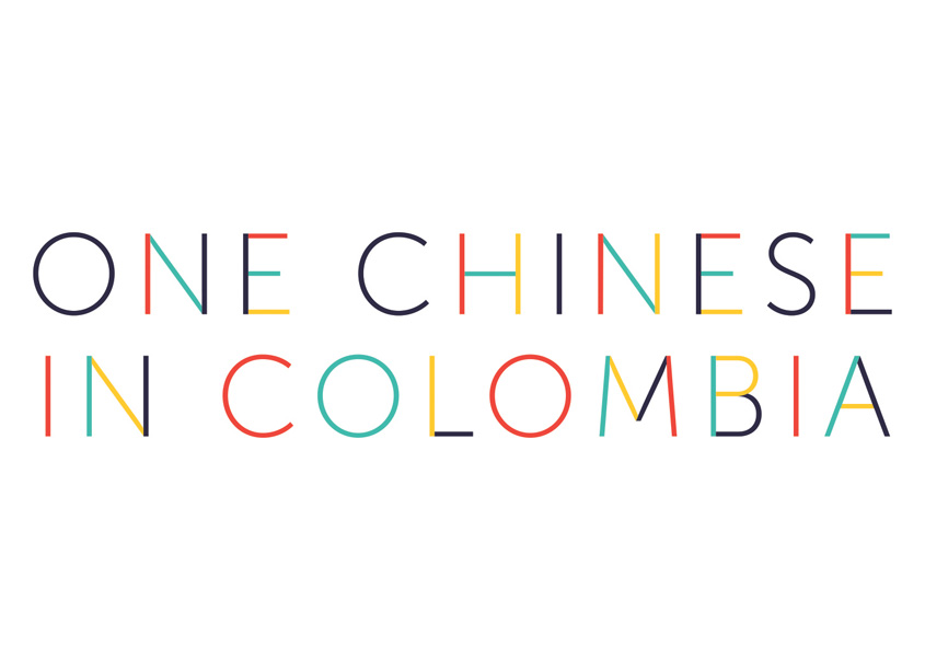 One Chinese in Colombia Logo Design by Kelly Horigan