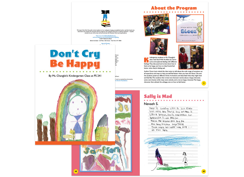 GinneFine.Art  Don't Cry, Be Happy Book Design