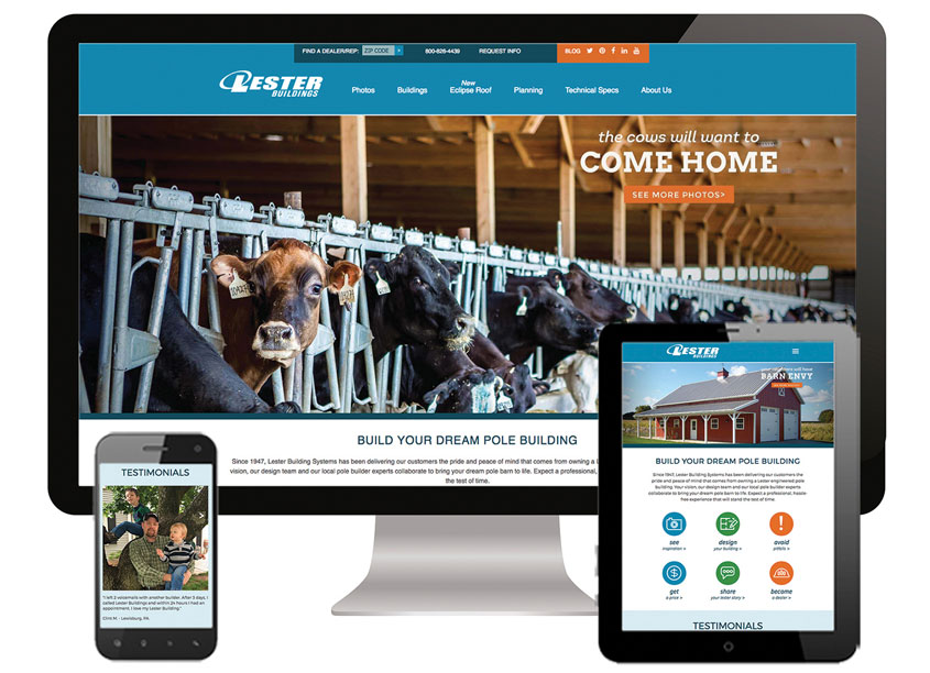 Lester Building Systems Website by Peter Hill Design