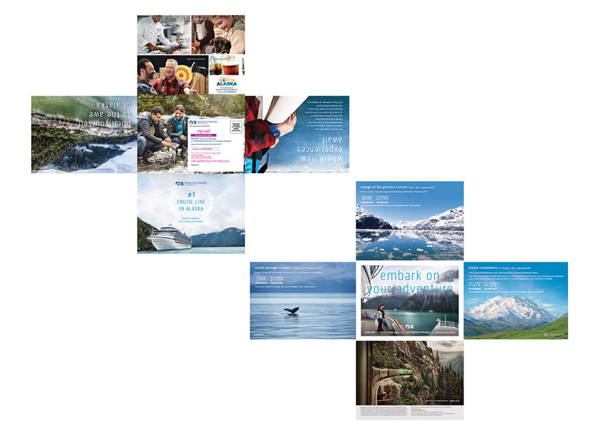 Princess Cruises, Creative Services Alaska Iron Cross Mailer