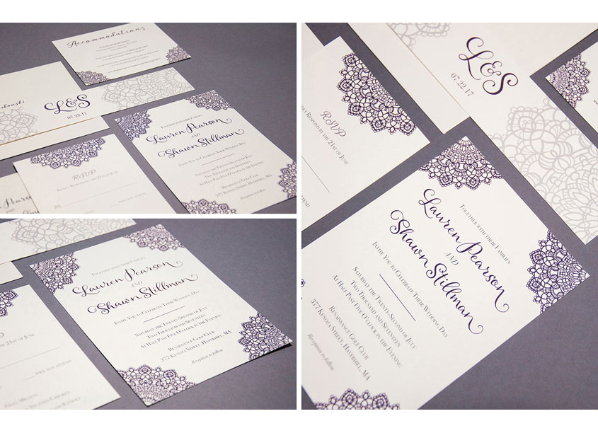 Angelique Markowski  Lauren Pearson Wedding Invitations