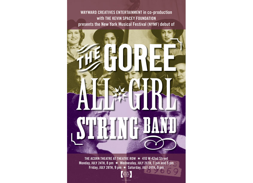 The Goree All-Girl String Band Poser by Skeggs Design