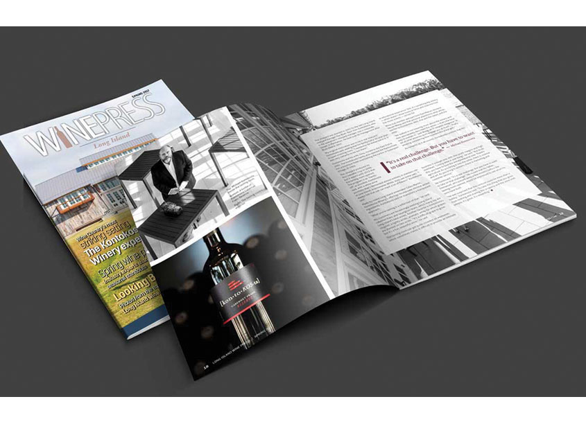 Moka Graphics  WinePress Magazine - Long Island