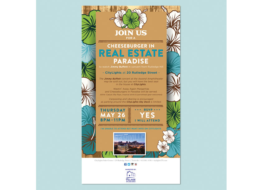 Jimmy Buffett Summer Watch Party Invitation by Solve