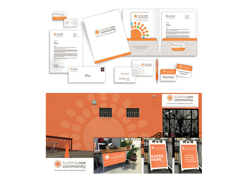 Building One Community™ Logo Application for Business Materials and Signage by TFI Envision, Inc.