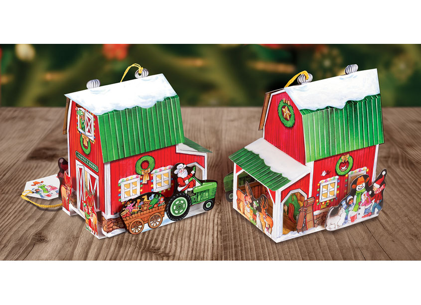 Graphics 3, Inc. Pop-Up Card - North Pole Barn by TFI Envision, Inc.