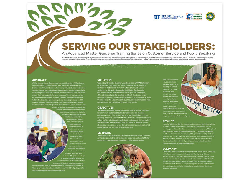 UF/IFAS Communications  UF/IFAS Extension Master Gardener: Serving Our Stakeholders Poster