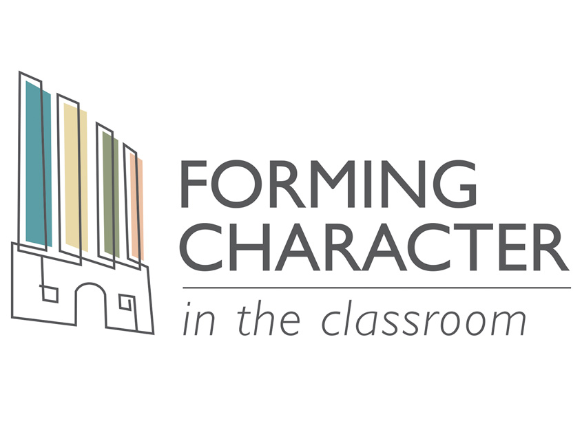 Forming Character In The Classroom Logo by VGreen Design