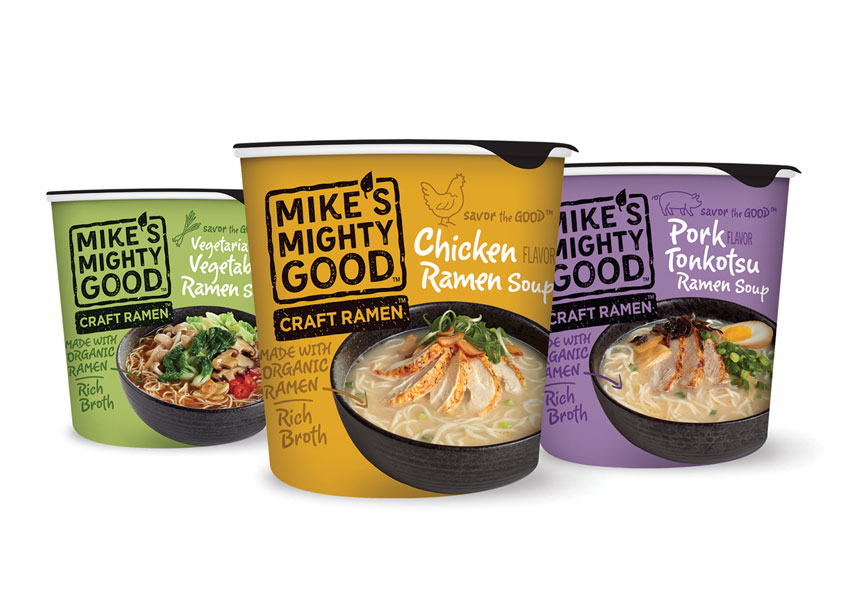 Voicebox Creative, Inc. Mike's Mighty Good Craft Ramen Packaging
