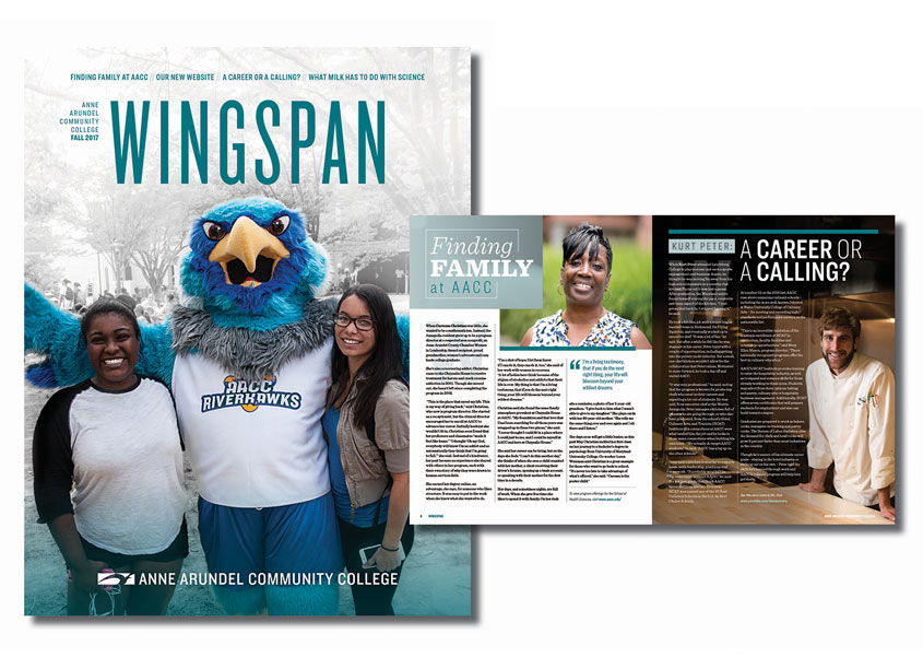 Anne Arundel Community College  Wingspan Community Magazine