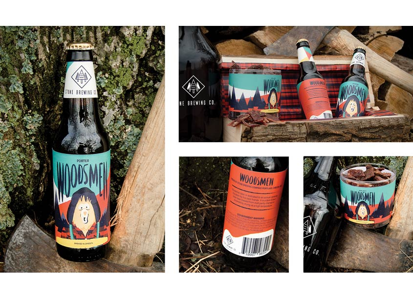 School of Advertising Art (SAA)  Woodsmen Packaging