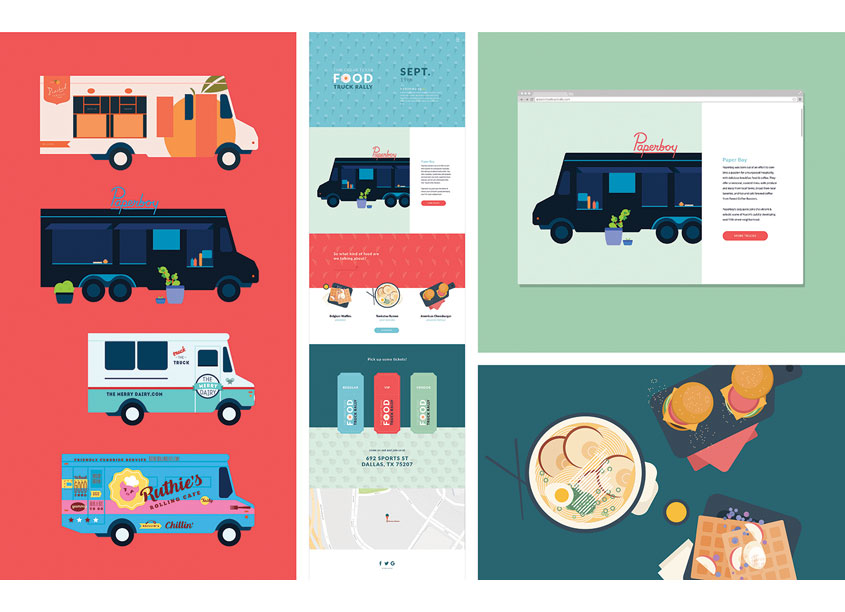 The Great Texas Food Truck Rally Website by School of Advertising Art (SAA)