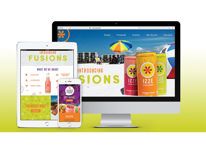 Izze Website by School of Advertising Art (SAA)