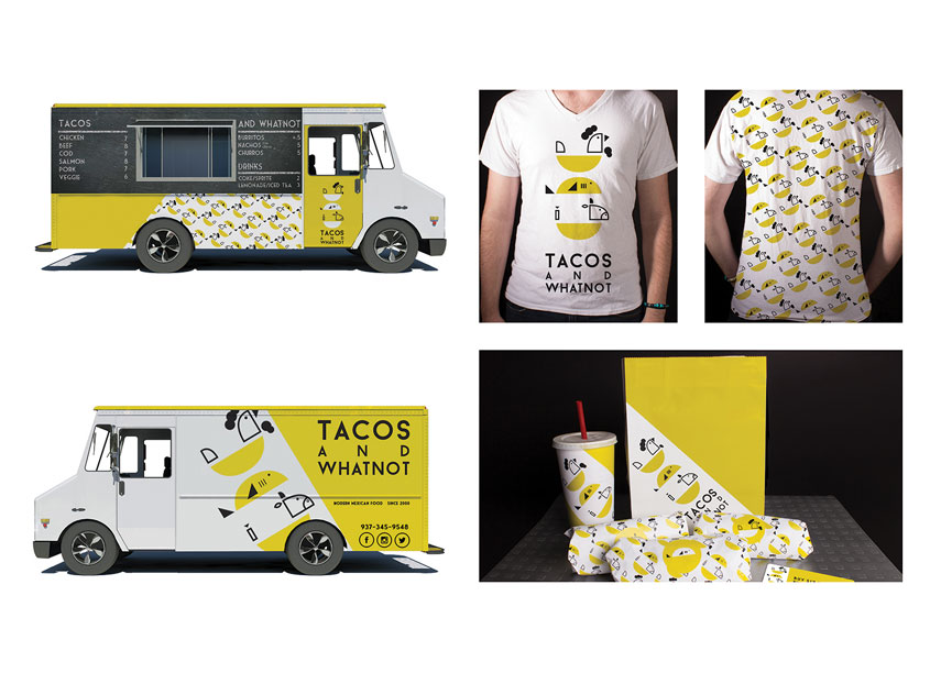 School of Advertising Art (SAA)  Tacos and Whatnot Branding