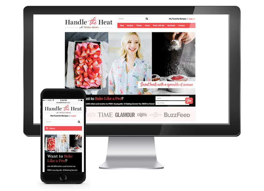 Weller Smith Design LLC  Handle the Heat with Tessa Arias Website Design