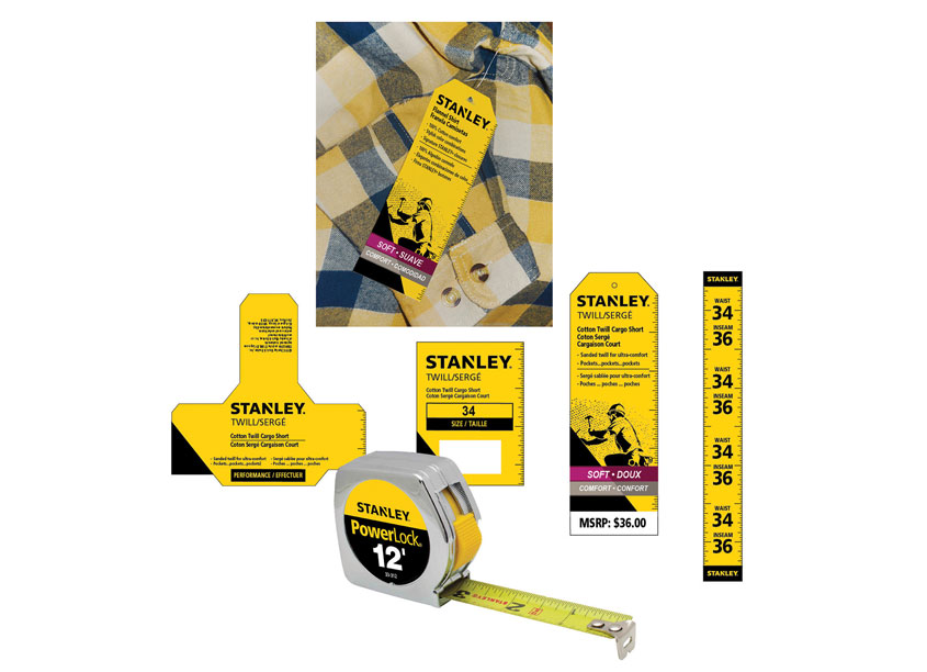 Stanley Workwear Clothing Packaging by Randy Richards Design