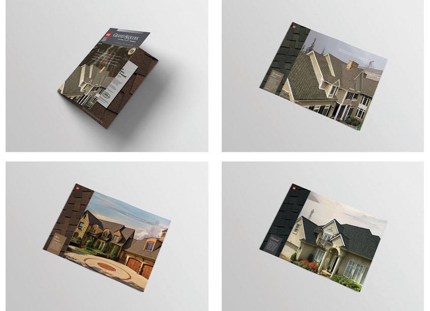 Grand Sequoia Lifetime Designer Shingles Brochure by GAF/Creative Design Services