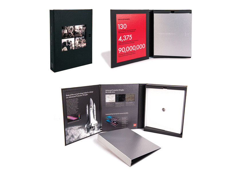 GAF Pitch Kit Box and Brochures by GAF/Creative Design Services