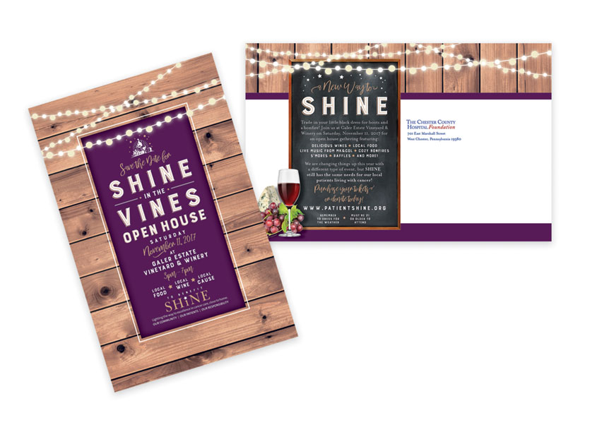 Reino's Design Print Mail  Shine In The Vines Save The Date