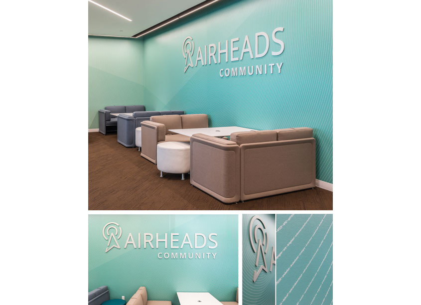Airheads Lounge Wall by Aruba, a Hewlett Packard Enterprise Company