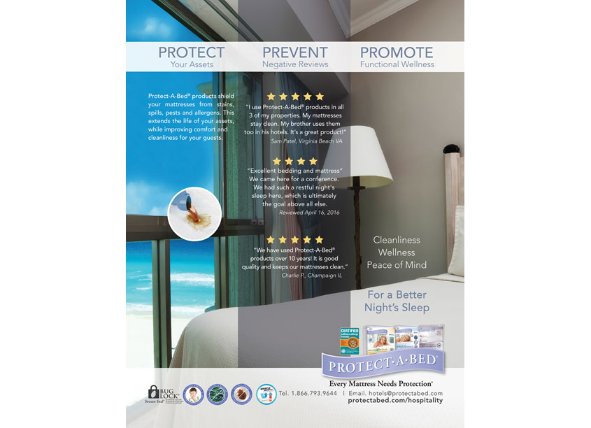 Protect-A-Bed  Hospitality Magazine Advertisement
