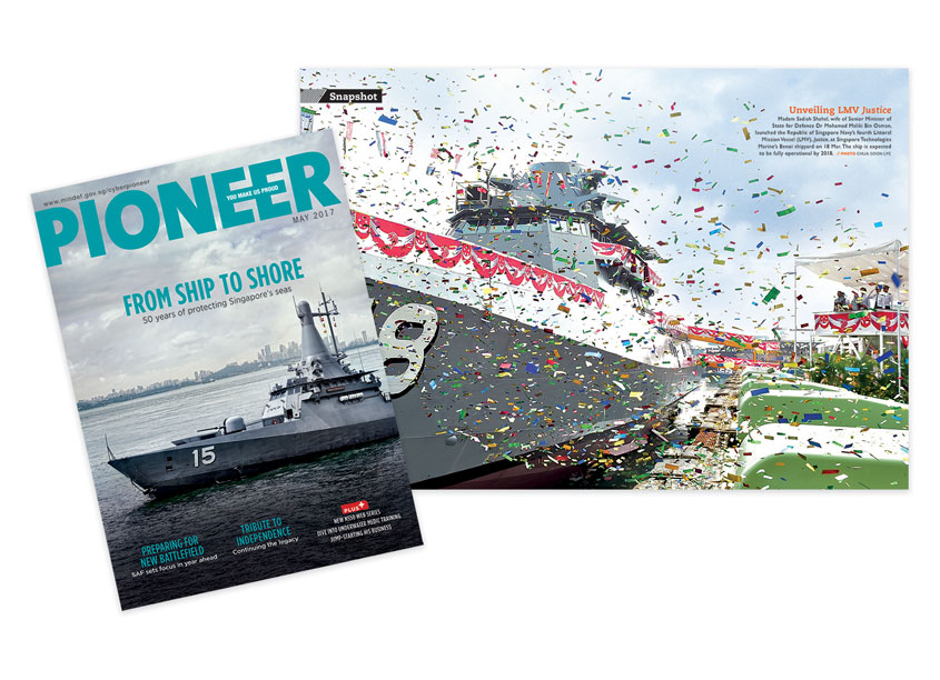 From Ship To Shore - PIONEER Magazine May 2017 by Ministry of Defence, Singapore & So Drama! Entertainment