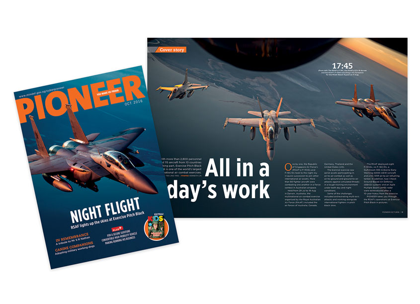 Night Flight - PIONEER Magazine October 2016 by Ministry of Defence, Singapore & So Drama! Entertainment