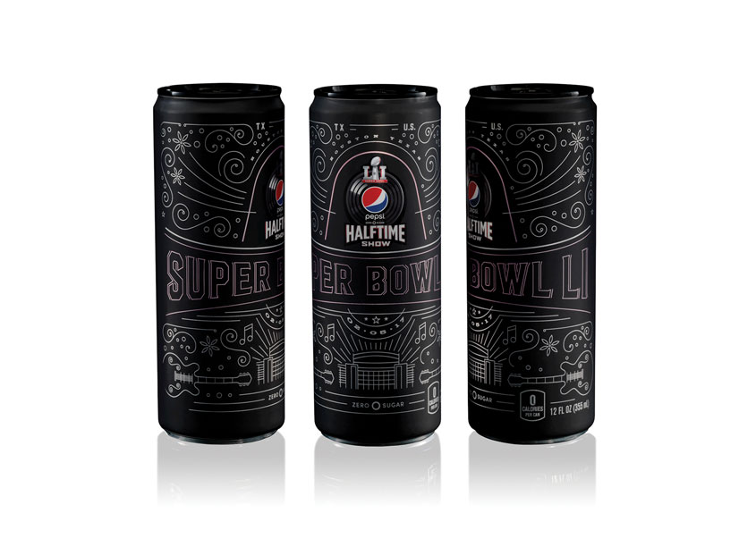Pepsi Zero Sugar Limited Edition Super Bowl LI Commemorative Can by PepsiCo Design & Innovation