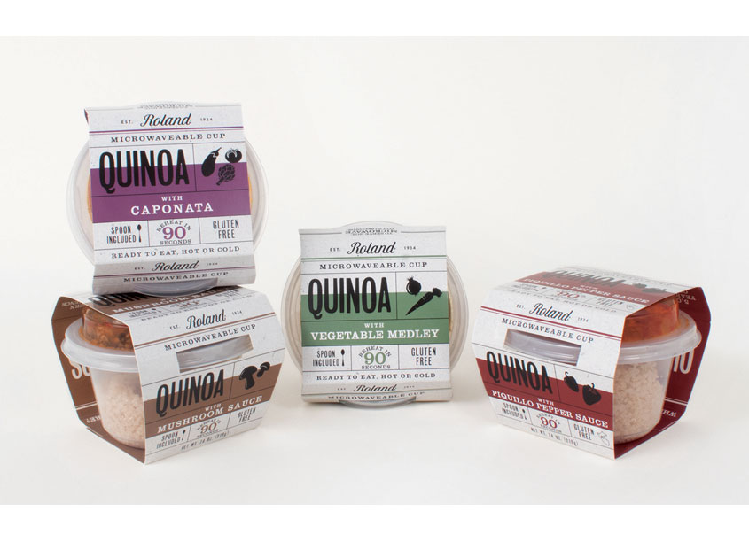 Roland® Savory Quinoa Cups Line Package Design by Roland Foods, LLC - Creative Department