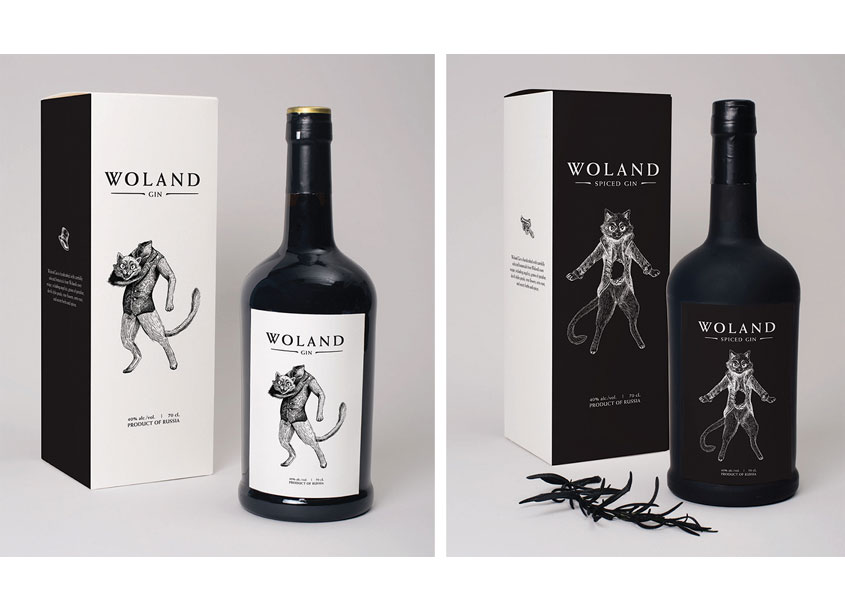Shillington School of Graphic Design  Woland Gin Packaging