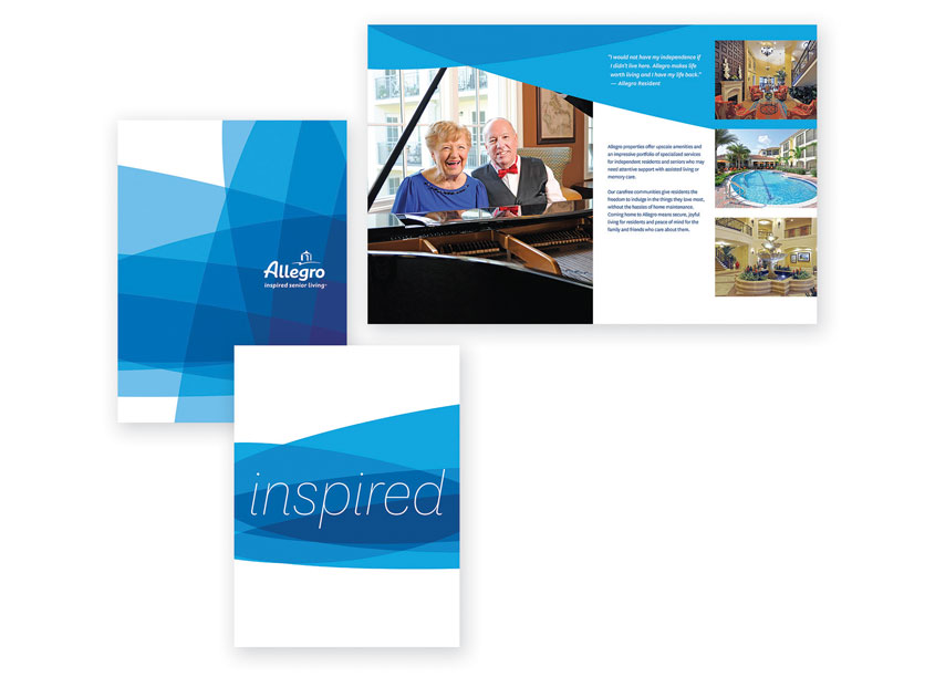 cfk creative  Allegro Senior Living Inspired Brochure