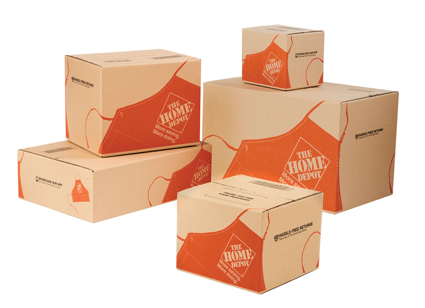 Apron Shipping Boxes by The Home Depot/Package Design