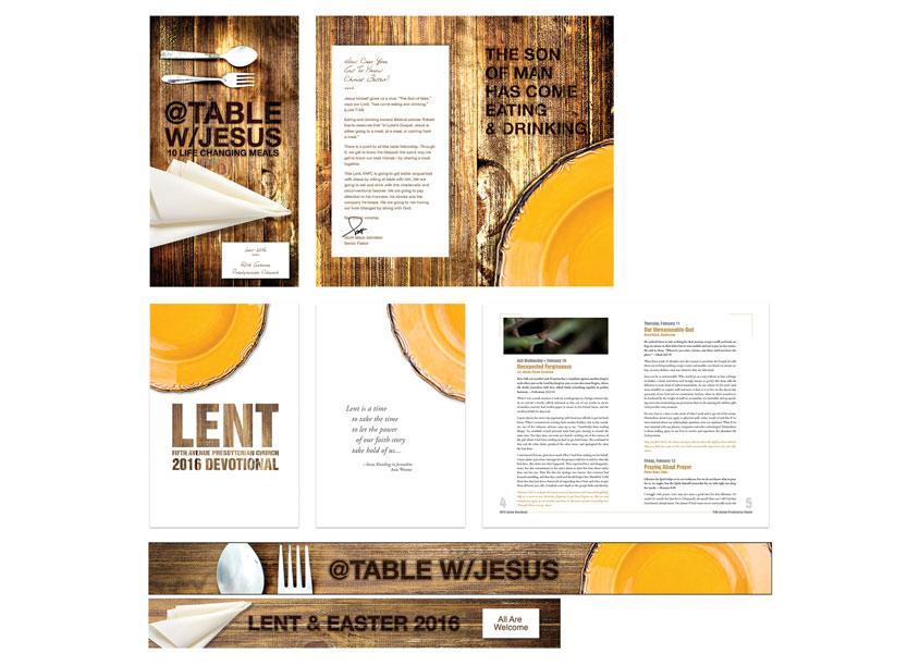 2016 Lent Brochure + Collateral by Fifth Avenue Presbyterian Church
