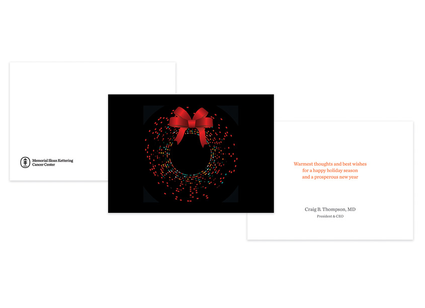 Memorial Sloan Kettering  DNA Holiday Card