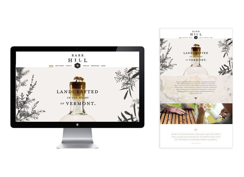 Caledonia Spirits Website by John McNeil Studio