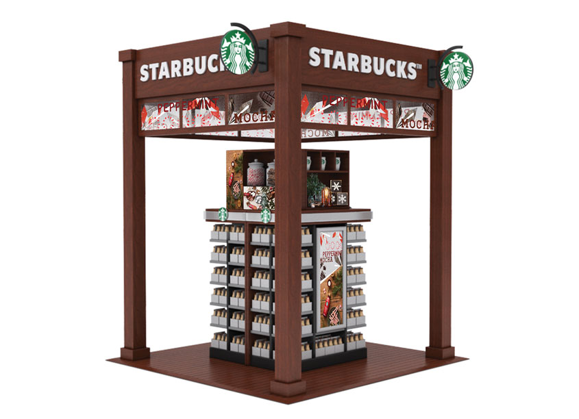 Propac Peppermint Mocha Holiday Display
