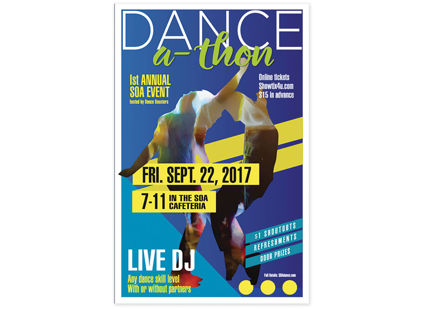 Dance-A-Thon Poster by Miley Hallen Design