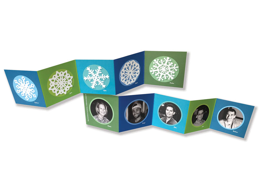 SnowFlake Holiday Card by Andra Design LLC