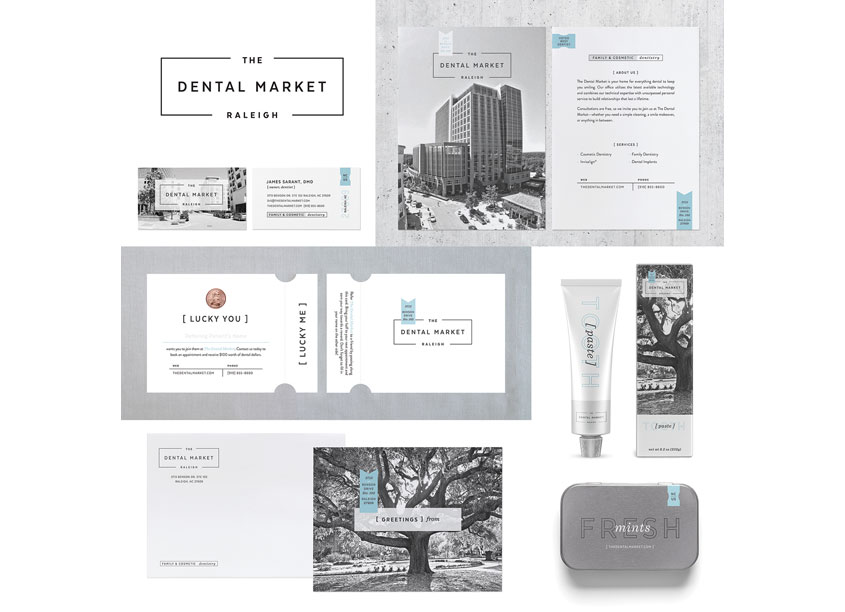 The Dental Market Brand Identity by Test Monki