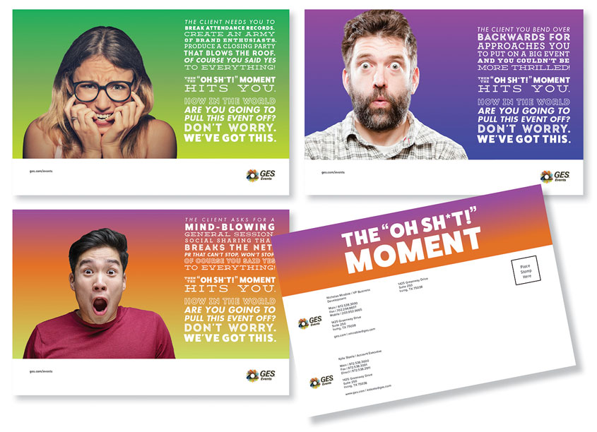 """Oh Sh*t!"" Postcards by GES"