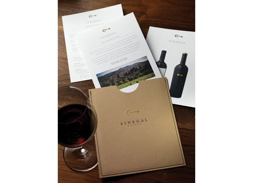 Sinegal Estate Release Offering by CF Napa Brand Design