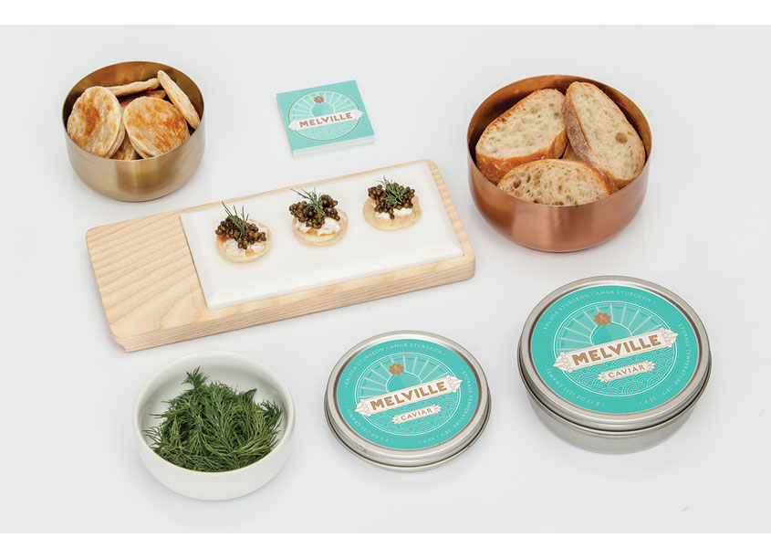 Melville Caviar Package Design by Corse Design Factory