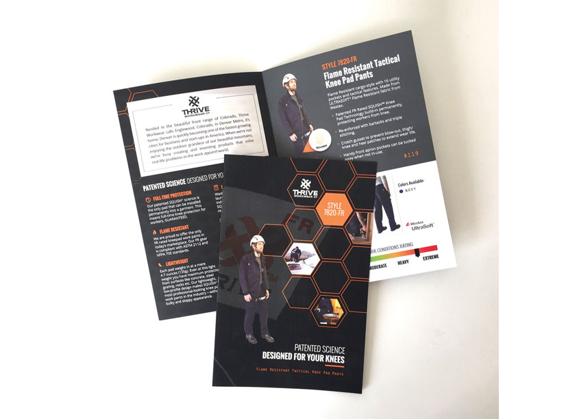 THRIVE Workwear Product Brochure by Design Tree Studios