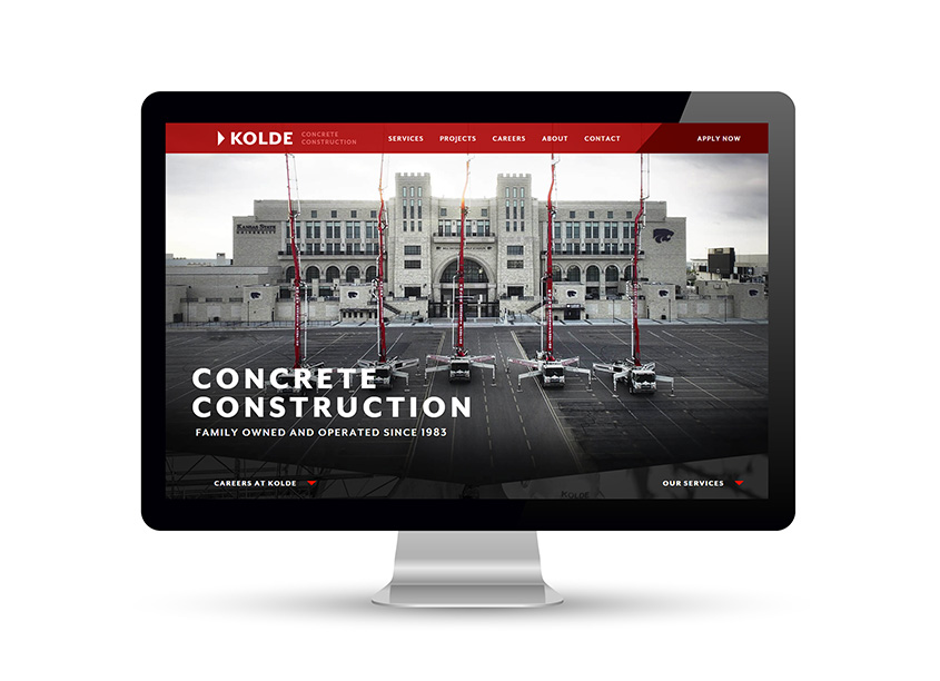 Kolde Concrete Construction Website by Imagemakers, Inc.