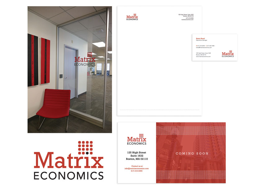 Matrix Economics Branding by Roycroft Design